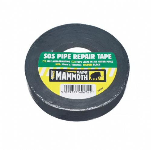 Everbuild 2SOSBK SOS Pipe Repair Tape Black 25mm x 10m